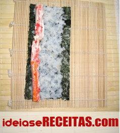 Como fazer sushi passo a passo - Mini Sushi