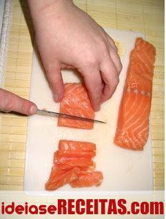 Como fazer sushi passo a passo - Preparação dos Recheios