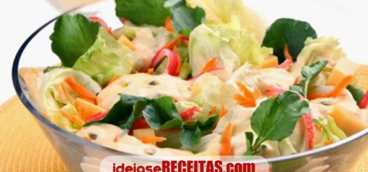 salada verde molho maracuja