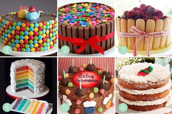 que achou destas ideias de bolos para festas de crianças?