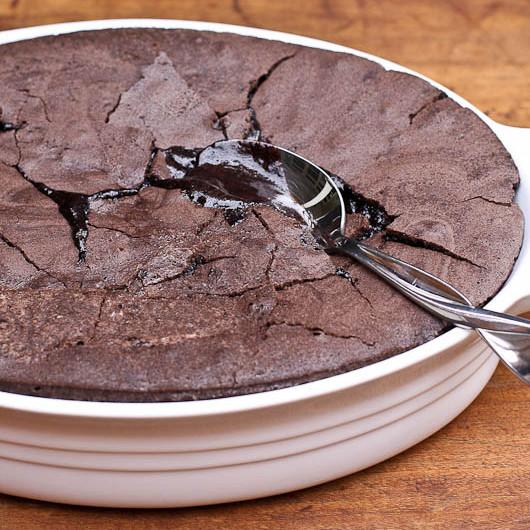 brownie-pudim