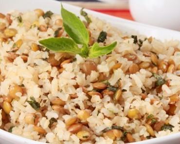 receita-arroz-integral-lentilha-manjericao