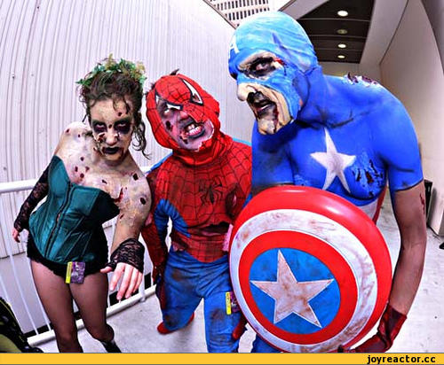 horror-cosplay-captainamericaspiderman