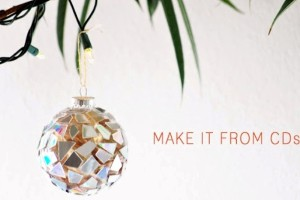 DIY Project Upcycle Christmas Tree Holiday Ornaments Gift1