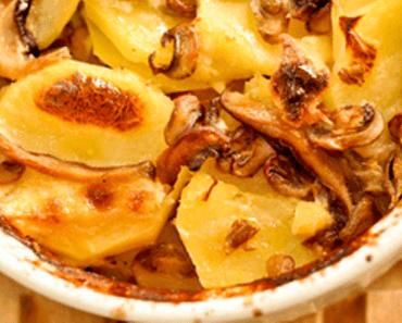 Gratinado de Cogumelos frescos e Batatas