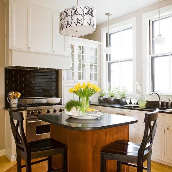 35 ideias para ilhas na sua cozinha - Mesa de cocina pequena ...