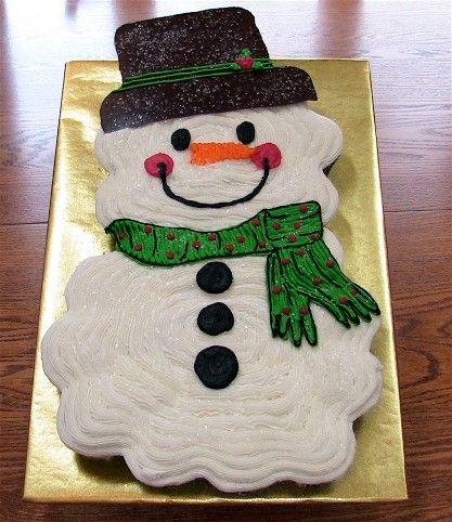 snowman_cupcake_cake