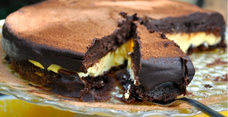 Bolo de chocolate de trufa de maracujá2