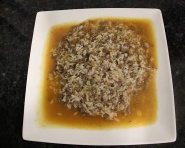 arroz malandrinho de carne picada