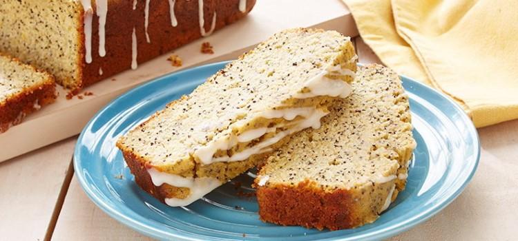 bolo de iogurte e limão com sementes de papoila
