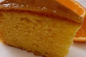 receita bolo molhado laranja