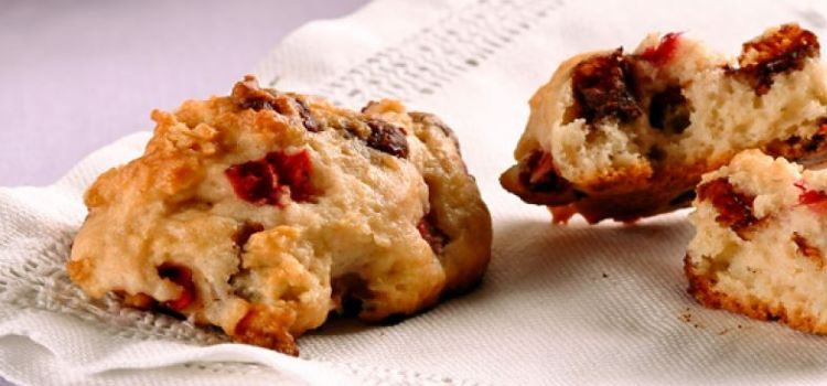 receita cookies morango chocolate