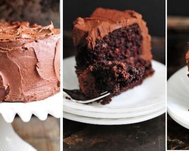 receita bolo chocolate cobertura.chocolate