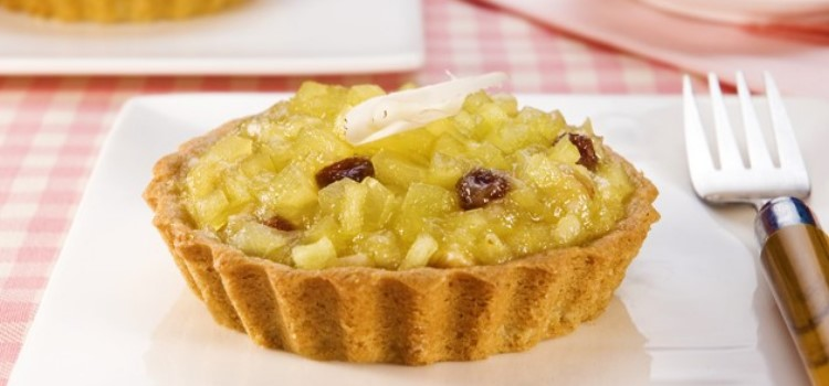 receita torta maça massa integral aveia e frutas secas