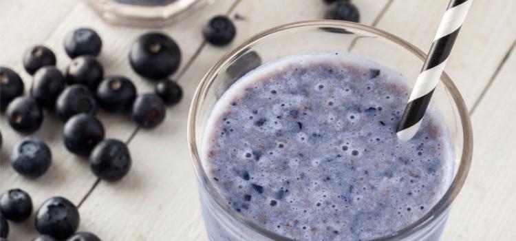 receitas diet shake de mirtilos