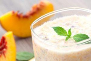 receitas diet shake de pêssego