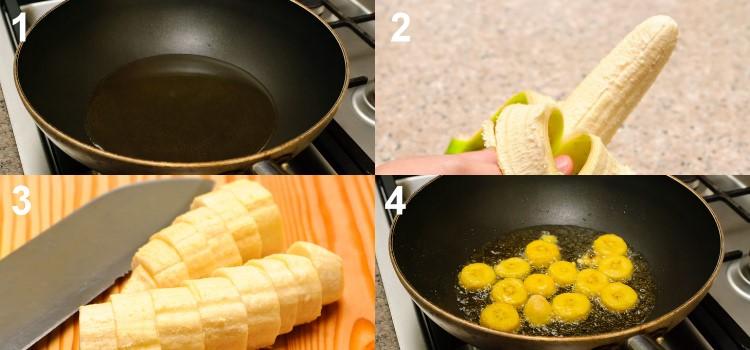 Receita tradicional de Mofongo de Porto Rico - Passos 1 a 4