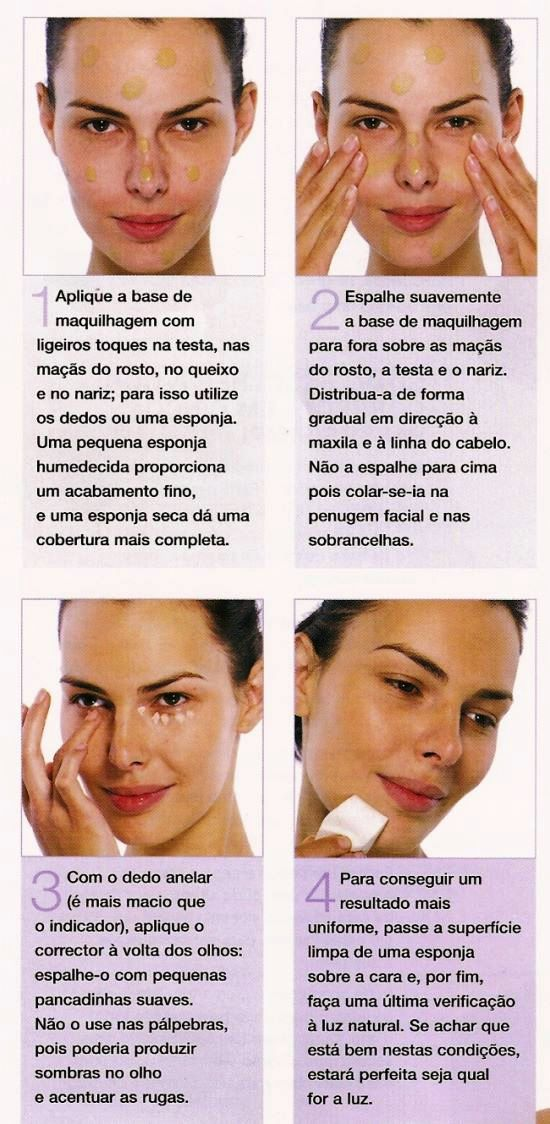 Métodos para aplicar base na maquilhagem