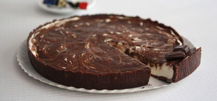 Receita tarte de chocolate e iogurte