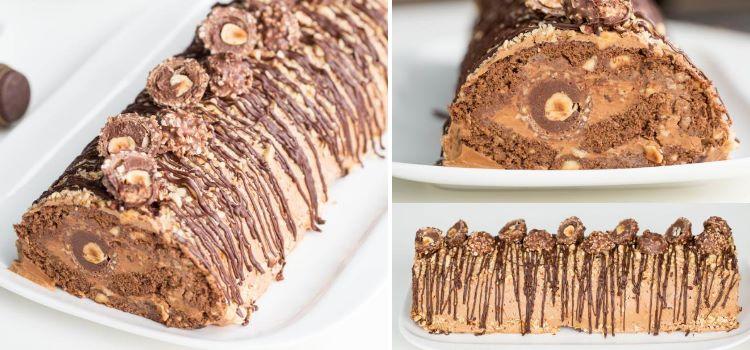 torta de ferrero rocher natal