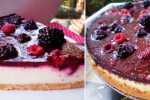 Cheesecake de Amoras e Framboesas
