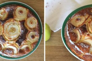 Bolo de Baunilha com Crosta de Maçã Verde