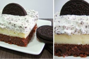 Oreo cheesecake brownie