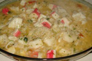 arroz de pescada com delicias