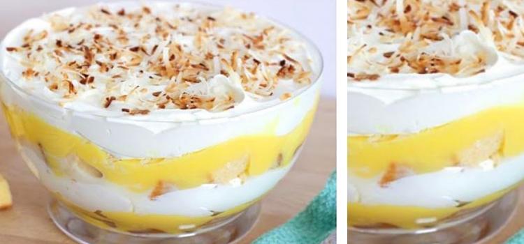 Doce em camadas de ananas