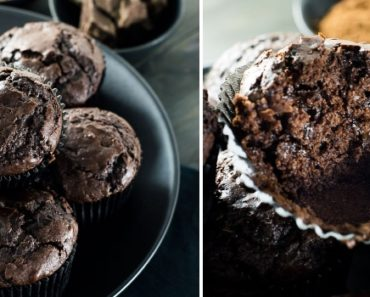 Muffins de chocolate com cacau