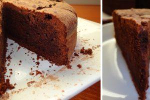 bolo de chocolate apetecivel