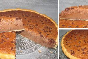 tarte de cacau e coco