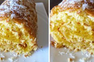 torta de coco humida