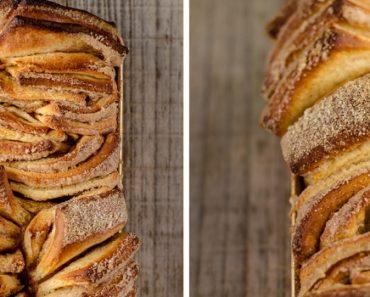 Pão caseiro de canela e laranja