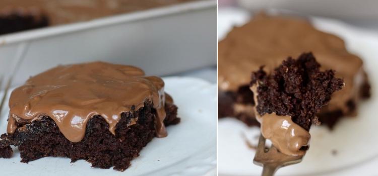 bolo de cougete com chocolate