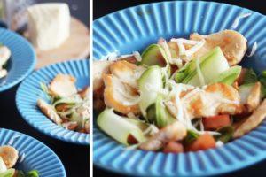 salada curgete e frango low carb